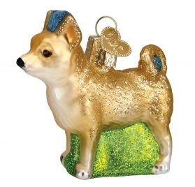 "Old World Christmas 2.75"" Chihuahua Dog Glass Ornament #12281"