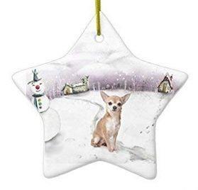 QMSING Chihuahua Christmas Ornament BH475377