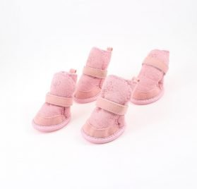 URBESTPink Nonslip Sole Booties Pug Dog Chihuahua Shoes Boots 2 Pair XXXS