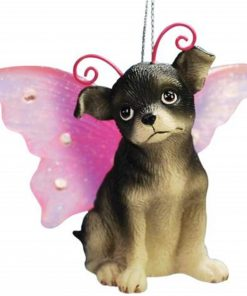 WL SS-WL-21605, 2.25 Inch Chihuahua Puppy Dog with Fairy Wings Christmas Ornament, 2.25""