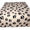 bogo Brands Large Fleece Pet Blanket with Paw Print Pattern Fabric - 60 x 39 Dog and Cat throw (Tan & Black) 4
