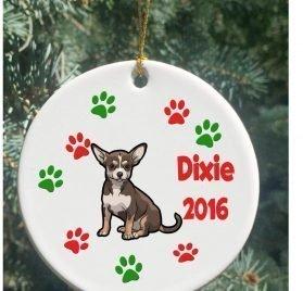 rfy9u7 Personalized Christmas Ornaments Dog Chihuahua Christmas Ornament