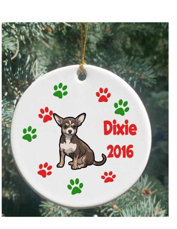 rfy9u7 Personalized Christmas Ornaments Dog Chihuahua Christmas Ornament