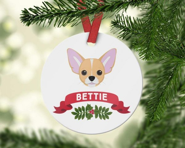 weewen Personalized Ornament Chihuahua Ornament Custom Dog Chihuahua Gift Christmas Ornament Pet Gift Family Dog Dog Owner Gift Christmas Decoration Funny