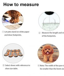 ASOCEA Pet Dog Breathable Mesh Sandals Shoes Paw Protector with Reflective Strip Anti-Slip Sole for Dogs 5 Sizes Orange 4