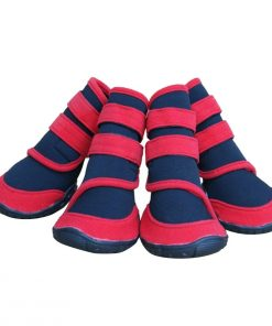 Adorrable Anti Slip Dog Shoes Waterproof Winter Warm Small Medium Large Pet Rainboots, Red, XX-Small