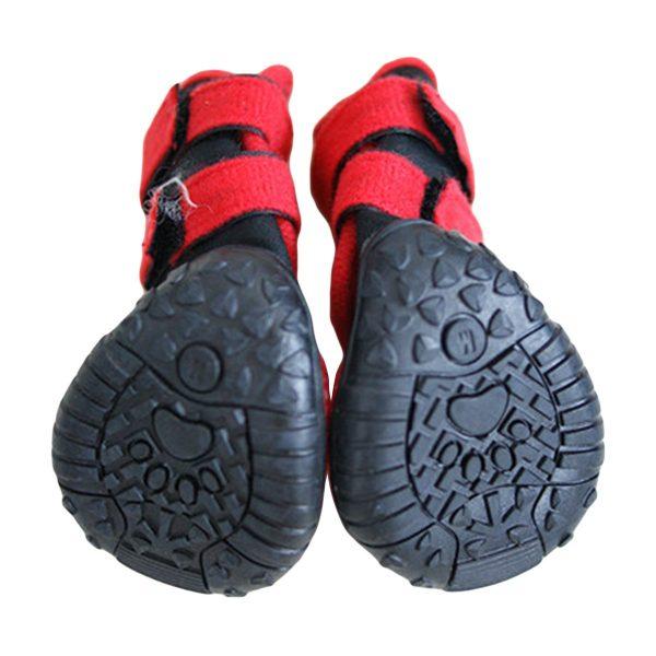 Adorrable Anti Slip Dog Shoes Waterproof Winter Warm Small Medium Large Pet Rainboots, Red, XX-Small 3