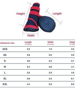 Adorrable Anti Slip Dog Shoes Waterproof Winter Warm Small Medium Large Pet Rainboots, Red, XX-Small 6