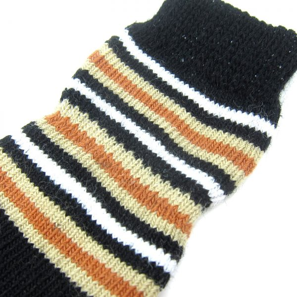 Alfie Pet by Petoga Couture - Gari 2 Set of 4 Dog Paw Protection Indoor Socks - Color- Black Stripe and Blue, Size- Small 8