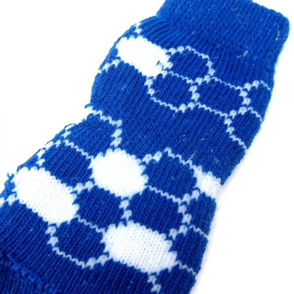Alfie Pet by Petoga Couture - Gari 2 Set of 4 Dog Paw Protection Indoor Socks - Color- Green and Blue, Size- Small 6