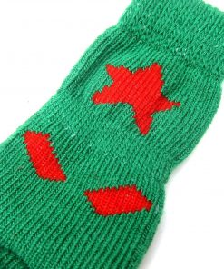 Alfie Pet by Petoga Couture - Gari 2 Set of 4 Dog Paw Protection Indoor Socks - Color- Green and Blue, Size- Small 8