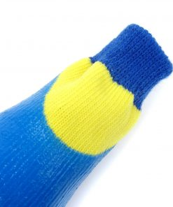 Alfie Pet by Petoga Couture - Terry Set of 4 Rubber Dipped Dog Paw Protection Socks - Color- Blue, Size- XXS 9
