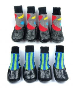 Alfie Pet by Petoga Couture - Wallace 2 Set of 4 Rubber Dipped Dog Paw Protection Socks - Size- XXS