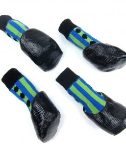Alfie Pet by Petoga Couture - Wallace 2 Set of 4 Rubber Dipped Dog Paw Protection Socks - Size- XXS 4