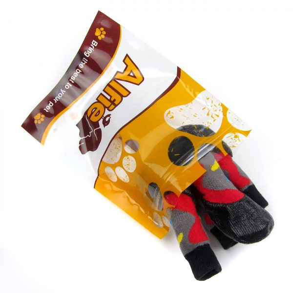 Alfie Pet by Petoga Couture - Wallace 2 Set of 4 Rubber Dipped Dog Paw Protection Socks - Size- XXS 7