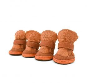 Asobilor Dog Shoes Booties Breathable Paws Protector Anti-Skid Dog Boots with Adjustable Strap Pet Winter Warm Snow Boots for Chihuahua Teddy