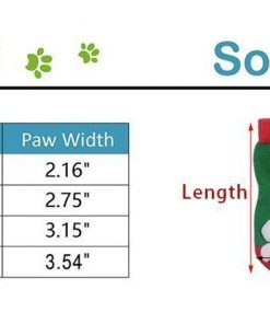EXPAWLORER Christmas Dog Socks Non Slip for Hardwood Floors - Anti-Slip Socks for Small to Large Dogs, Traction Control, Paw Protection 2