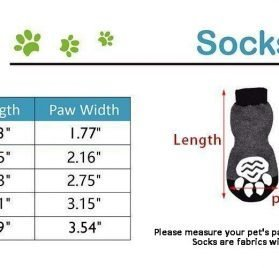 EXPAWLORER Dog Socks Traction Control Anti-Slip for Hardwood Floor Indoor Wear, Paw Protection Grey. 2