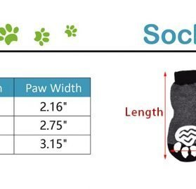 EXPAWLORER Dog Socks Traction Control Anti-Slip for Hardwood Floor Indoor Wear, Paw Protection Red 2