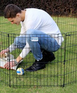 "HACHI SHOP Pet Playpen Foldable Exercise Pen for Dogs Cats Rabbits - 24 inches (24"") 2"