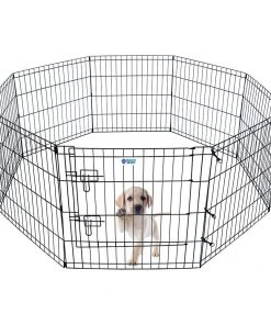 "HACHI SHOP Pet Playpen Foldable Exercise Pen for Dogs Cats Rabbits - 24 inches (24"")"