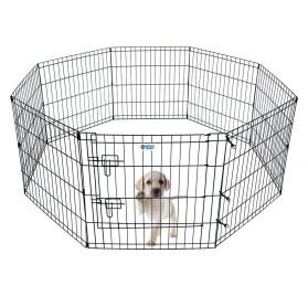 """HACHI SHOP Pet Playpen Foldable Exercise Pen for Dogs Cats Rabbits - 24 inches (24"""")"""
