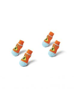 Nothing But Love Pets Toy Small Dog Non Slip 2 Sock Packs (8 pcs) for Yorkie Pom Maltese Chihuahua (Small Plus Size, Orange, Blue, Dollars) 5