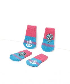 Nothing But Love Pets Toy Small Dog Non Slip 2 Sock Packs (8 pcs) for Yorkie Pom Maltese Chihuahua (Small Plus Size, Pink, Blue, Pirate) 4