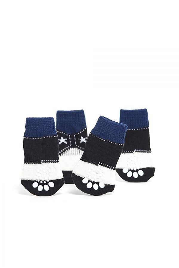 Nothing But Love Pets Toy Small Dog Non Slip 2 sock packs (8 pcs) For Yorkie Pom Maltese Chihuahua (Small Plus Size, white, black, cowboy style) 3