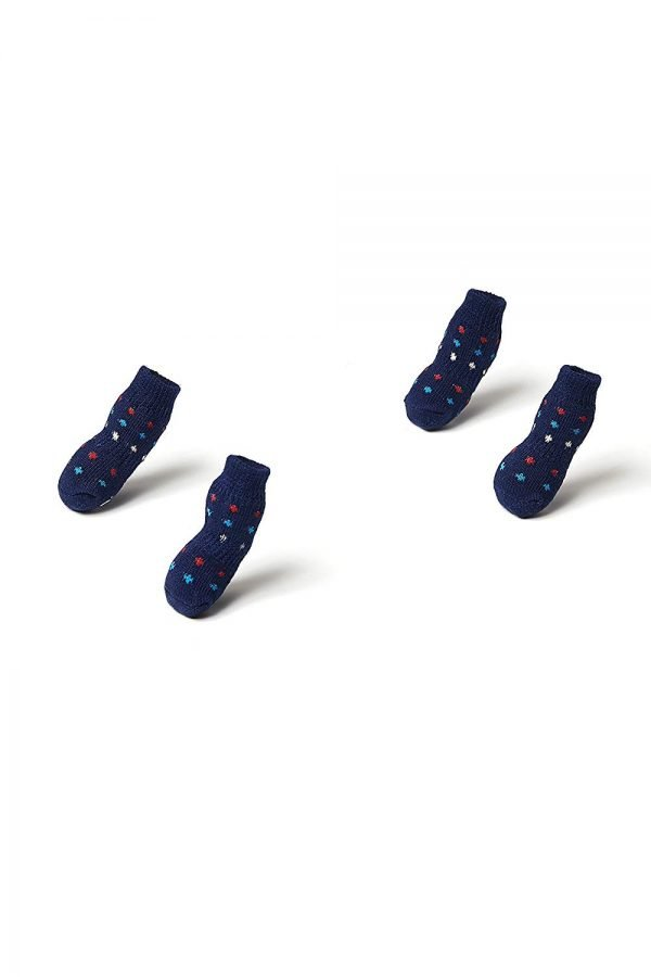 Nothing But Love Pets Toy Small Dog Non Slip 2 sock packs (8 pcs) For Yorkie Pom Maltese Chihuahua (Small size, blue, dotted) 5