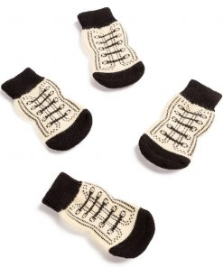 Pet Heroic Anti-Slip Knit Dog Socks & Cat Socks Rubber Reinforcement, Anti-Slip Knit Dog Paw Protector & Cat Paw Protector Indoor Wear