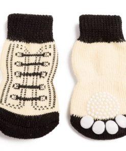 Pet Heroic Anti-Slip Knit Dog Socks & Cat Socks Rubber Reinforcement, Anti-Slip Knit Dog Paw Protector & Cat Paw Protector Indoor Wear 2