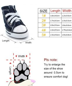 "Scheppend Anti-Slip Dog Boots for Small Dogs Sport Shoes Fashion Pet Sneakers,Blue #1(1.6"" Lx1.2 W) 2"
