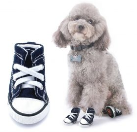 "Scheppend Anti-Slip Dog Boots for Small Dogs Sport Shoes Fashion Pet Sneakers,Blue #1(1.6"" Lx1.2 W)"