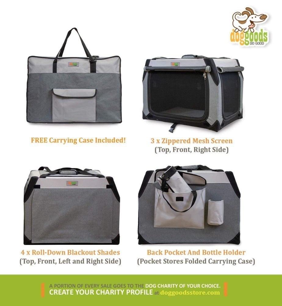The Folding Soft Dog Crate By Doggoods Indoor Outdoor