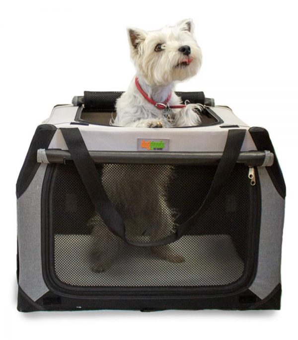 The Folding Soft Dog Crate by DogGoods | Indoor Outdoor Dog Kennels and Crates and Collapsible Dog Crate for Camping, Car, Roadtrips