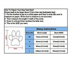 abcGoodefg 4pcs Pet Dog Boots Sneaker Resistant Dog Shoes for Small to Medium Dogs XS to L All Weather Waterproof Nonslip Sport Shoes Rubber Sole. 2