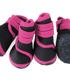 abcGoodefg 4pcs Pet Dog Boots Sneaker Resistant Dog Shoes for Small to Medium Dogs XS to L All Weather Waterproof Nonslip Sport Shoes Rubber Sole.