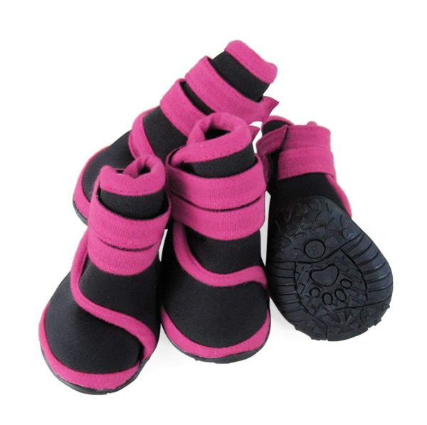 abcGoodefg 4pcs Pet Dog Boots Sneaker Resistant Dog Shoes for Small to Medium Dogs XS to L All Weather Waterproof Nonslip Sport Shoes Rubber Sole. 3