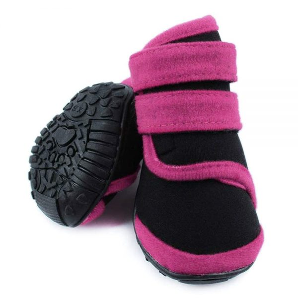 abcGoodefg 4pcs Pet Dog Boots Sneaker Resistant Dog Shoes for Small to Medium Dogs XS to L All Weather Waterproof Nonslip Sport Shoes Rubber Sole. 6