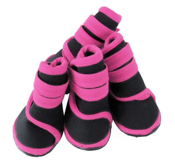 abcGoodefg 4pcs Pet Dog Boots Sneaker Resistant Dog Shoes for Small to Medium Dogs XS to L All Weather Waterproof Nonslip Sport Shoes Rubber Sole. 8