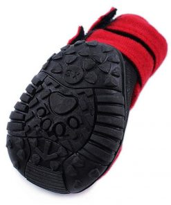 abcGoodefg 4pcs Pet Dog Shoes-Puppy Nonslip Sport Shoes Sneaker Boots Rubber Sole - Size XS (XS, Red) 3