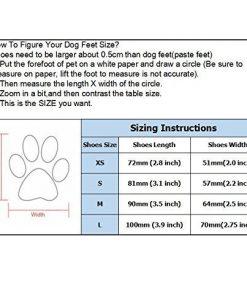 abcGoodefg 4pcs Pet Dog Shoes-Puppy Nonslip Sport Shoes Sneaker Boots Rubber Sole - Size XS (XS, Red) 6