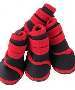 abcGoodefg 4pcs Pet Dog Shoes-Puppy Nonslip Sport Shoes Sneaker Boots Rubber Sole - Size XS (XS, Red) 7