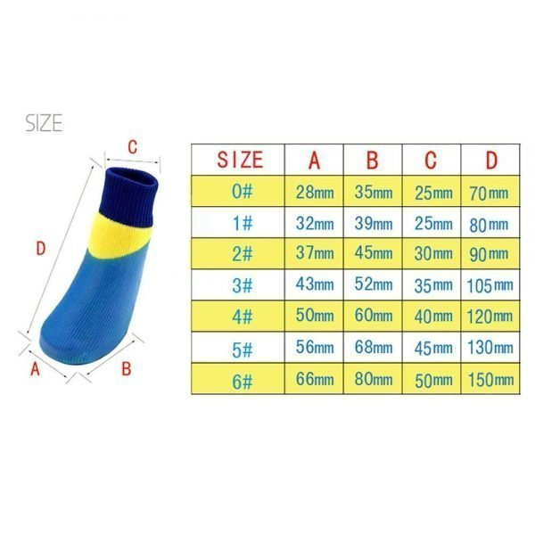 abcGoodefg 4pcs Pet Dog Socks-Puppy Pet Dog Outdoor Waterproof Shoes Socks, Rainproof Nonslip Shoes Boots Sneaker Cotton Socks+Rubber Sole 2