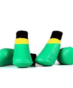 abcGoodefg 4pcs Pet Dog Socks-Puppy Pet Dog Outdoor Waterproof Shoes Socks, Rainproof Nonslip Shoes Boots Sneaker Cotton Socks+Rubber Sole 3