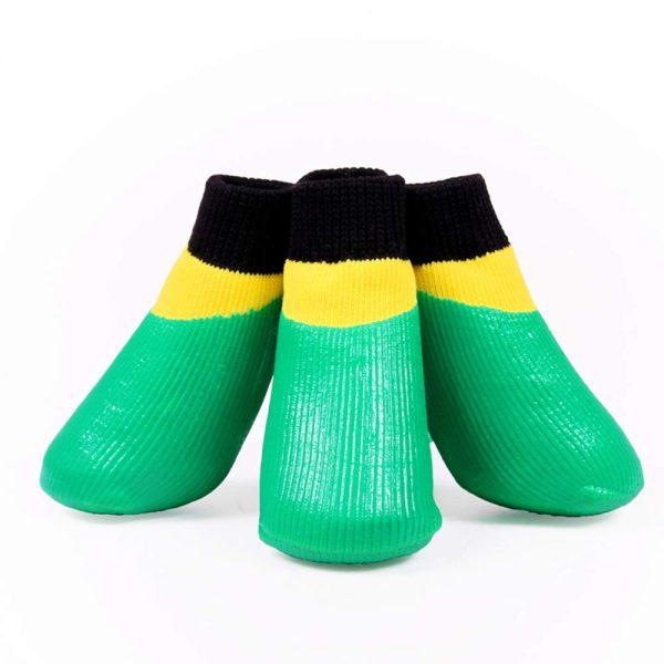 abcGoodefg 4pcs Pet Dog Socks-Puppy Pet Dog Outdoor Waterproof Shoes Socks, Rainproof Nonslip Shoes Boots Sneaker Cotton Socks+Rubber Sole