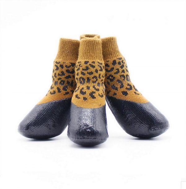 abcGoodefg Pet Dog Puppy Waterproof Nonslip Sports Socks Shoes Boots, Rubber Sole, Comfortable Design (#0, Leopard) 3