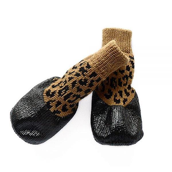 abcGoodefg Pet Dog Puppy Waterproof Nonslip Sports Socks Shoes Boots, Rubber Sole, Comfortable Design (#0, Leopard) 4