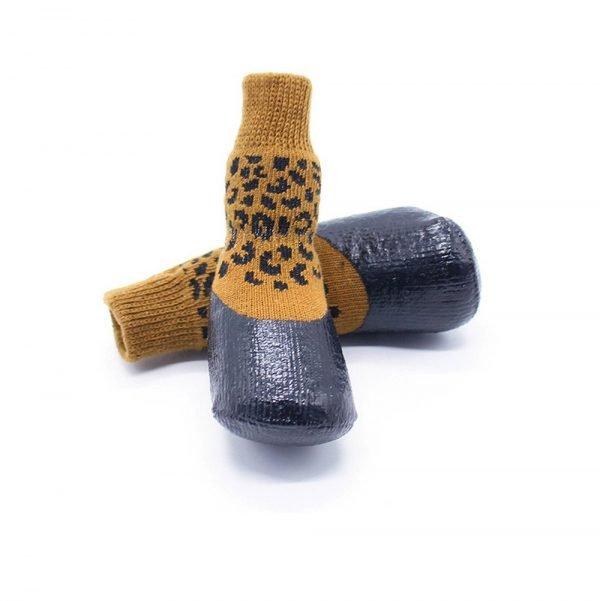 abcGoodefg Pet Dog Puppy Waterproof Nonslip Sports Socks Shoes Boots, Rubber Sole, Comfortable Design (#0, Leopard) 6